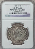 Early Half Dollars: , 1803 50C Large 3 -- Improperly Cleaned -- NGC. XF. NGC Census:(44/843). PCGS Population (49/77). Mintage: 188,234. Numisme...