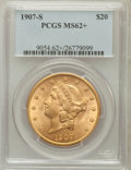 Liberty Double Eagles: , 1907-S $20 MS62+ PCGS. PCGS Population (1060/1132). NGC Census:(1140/1007). Mintage: 2,165,800. Numismedia Wsl. Price for ...