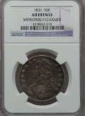 Bust Half Dollars: , 1831 50C -- Improperly Cleaned -- NGC Details. AU. NGC Census:(84/1115). PCGS Population (162/1046). Mintage: 5,873,660. N...