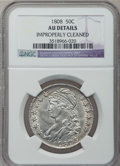 Bust Half Dollars: , 1808 50C -- Improperly Cleaned -- NGC Details. AU. NGC Census:(40/210). PCGS Population (48/212). Mintage: 1,368,600. Numi...