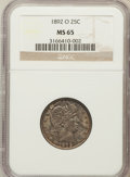 Barber Quarters: , 1892-O 25C MS65 NGC. NGC Census: (27/10). PCGS Population (37/12).Mintage: 2,640,000. Numismedia Wsl. Price for problem fr...