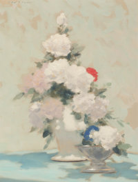 ANDRÉ GISSON (French/American, 1921-2003) White Bouquet Oil on canvas 16 x 12 inches (40.6 x 30.5