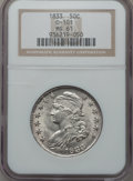Bust Half Dollars: , 1833 50C MS61 NGC. O-101. NGC Census: (52/298). PCGS Population(13/276). Mintage: 5,206,000. Numismedia Wsl. Price for pr...
