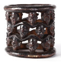 Furniture , A CARVED CAMEROON BAMILEKE STOOL. Circa 1860. 14-1/2 x 14-1/2 inches (36.8 x 36.8 cm). The Elton M. Hyder, Jr. Charitable ...