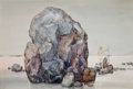 American, JOHN B. LEAR (American, 1910-2008). Rock. Watercolor onpaper. 19-1/2 x 29-1/2 inches (49.5 x 74.9 cm) (sight). ...