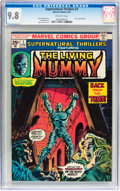 Bronze Age (1970-1979):Horror, Supernatural Thrillers #7 The Living Mummy (Marvel, 1974) CGC NM/MT9.8 Off-white pages....