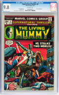Bronze Age (1970-1979):Horror, Supernatural Thrillers #8 The Living Mummy (Marvel, 1974) CGC NM/MT9.8 Off-white pages....