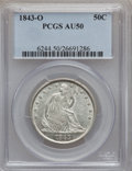 Seated Half Dollars: , 1843-O 50C AU50 PCGS. PCGS Population (14/61). NGC Census: (3/59).Mintage: 2,268,000. Numismedia Wsl. Price for problem fr...