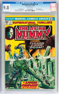 Bronze Age (1970-1979):Horror, Supernatural Thrillers #9 The Living Mummy (Marvel, 1974) CGC NM/MT9.8 Off-white pages....