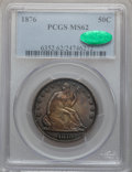 Seated Half Dollars: , 1876 50C MS62 PCGS. CAC. PCGS Population (57/134). NGC Census:(40/105). Mintage: 8,419,150. Numismedia Wsl. Price for prob...