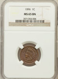 Indian Cents: , 1896 1C MS65 Brown NGC. NGC Census: (64/6). PCGS Population (9/0).Mintage: 39,057,292. Numismedia Wsl. Price for problem f...