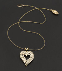 Diamond & Gold Heart Pendant