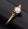 Estate Jewelry:Rings, Victorian Solitaire Diamond & Gold Ring. ...