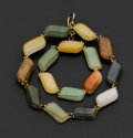 Estate Jewelry:Pendants and Lockets, Multi-Color Jade Gold Pendant. ...
