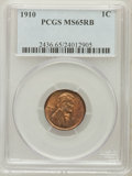 Lincoln Cents: , 1910 1C MS65 Red and Brown PCGS. PCGS Population (145/16). NGCCensus: (214/50). Mintage: 146,801,216. Numismedia Wsl. Pric...