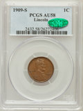 Lincoln Cents: , 1909-S 1C AU58 PCGS. CAC. PCGS Population (115/203). NGC Census:(65/213). Mintage: 1,825,000. Numismedia Wsl. Price for pr...