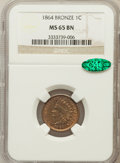 Indian Cents: , 1864 1C Bronze No L MS65 Brown NGC. CAC. NGC Census: (72/32). PCGSPopulation (36/2). Mintage: 39,233,712. Numismedia Wsl. ...