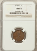 Lincoln Cents: , 1914-D 1C Fine 15 NGC. NGC Census: (598/3382). PCGS Population(565/2894). Mintage: 1,193,000. Numismedia Wsl. Price for pr...