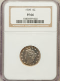 Proof Liberty Nickels: , 1909 5C PR66 NGC. NGC Census: (262/88). PCGS Population (201/34).Mintage: 4,763. Numismedia Wsl. Price for problem free NG...