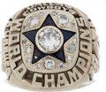 Football Collectibles:Others, 1971-72 Dallas Cowboys Super Bowl Championship Ring....