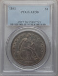 Seated Dollars: , 1841 $1 AU50 PCGS. PCGS Population (36/139). NGC Census: (14/137).Mintage: 173,000. Numismedia Wsl. Price for problem free...