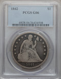 Seated Dollars: , 1842 $1 Good 6 PCGS. PCGS Population (6/583). NGC Census: (2/464).Mintage: 184,618. Numismedia Wsl. Price for problem free...