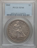 Seated Dollars: , 1840 $1 XF40 PCGS. PCGS Population (48/192). NGC Census: (16/192).Mintage: 61,005. Numismedia Wsl. Price for problem free ...