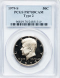 Proof Kennedy Half Dollars: , 1979-S 50C Type Two PR70 Deep Cameo PCGS. PCGS Population (92). NGCCensus: (28). Numismedia Wsl. Price for problem free N...