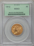 Indian Half Eagles, 1913 $5 MS63 PCGS....