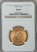 Liberty Eagles, 1901-S $10 MS65 NGC....