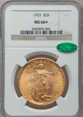 Saint-Gaudens Double Eagles, 1925 $20 MS66+ NGC. CAC....
