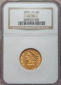 Liberty Half Eagles, 1892-CC $5 AU58 NGC....
