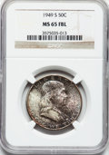 Franklin Half Dollars: , 1949-S 50C MS65 Full Bell Lines NGC. NGC Census: (110/19). PCGSPopulation (492/143). Numismedia Wsl. Price for problem fr...