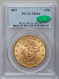 Liberty Double Eagles, 1897 $20 MS64 PCGS. CAC....