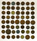 Civil War Tokens, Mixed Lot of Uncertified Civil War Tokens, Including Patriotics and Storecards. Sixty Four Items.... (Total: 64 tokens)