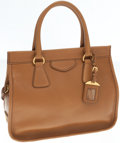 Luxury Accessories:Bags, Prada Light Brown Leather Everyday Tote Bag with Shoulder Strap....