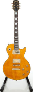 Musical Instruments:Electric Guitars, 1990s Gibson Les Paul Copy Butterscotch Solid Body Electric Guitar,Serial # 990726236....