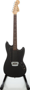 Musical Instruments:Electric Guitars, 1978 Fender Musicmaster Black Solid Body Electric Guitar, Serial #S805186....