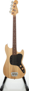 Musical Instruments:Bass Guitars, Late 1970s Fender Musicmaster Natural Electric Bass Guitar. ...