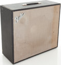 Musical Instruments:Amplifiers, PA, & Effects, Late 1960s Fender Black Extension Speaker Cabinet. ...