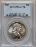 Franklin Half Dollars: , 1957 50C MS66 Full Bell Lines PCGS. PCGS Population (414/12). NGCCensus: (64/4). Numismedia Wsl. Price for problem free N...
