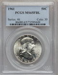 Franklin Half Dollars: , 1961 50C MS65 Full Bell Lines PCGS. PCGS Population (166/6).Numismedia Wsl. Price for problem free NGC...