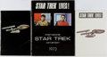 Books:Science Fiction & Fantasy, [Star Trek]. SIGNED. Group of Three Items Relating to the 1973 StarTrek Convention. Larger book is signed by Walter Koeni...