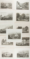 Books:Prints & Leaves, [Isle of Wight]. Group of Eleven 19th Century Engraved Illustrations Featuring the Isle of Wight. 11 x 9 inches. Modest toni...