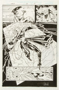 Original Comic Art:Panel Pages, Ian Churchill and Scott Hanna Cable