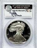 Modern Bullion Coins, 1991-S $1 Silver Eagle PR70 Deep Cameo PCGS. Ex: Signature of JohnM. Mercanti, 12th Chief Engraver of the U.S. Mint. PCGS ...