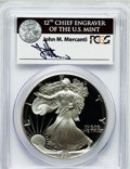 Modern Bullion Coins, 1991-S $1 One Ounce Silver Eagle Insert autographed By John M.Mercanti,12th Chief Engraver of the U.S. Mint PR70 Deep Cameo ...