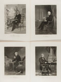 Books:Prints & Leaves, Group of Four 19th Century Engravings of Famous Men. Approx. 10.5 x 8 inches. Overall fine....