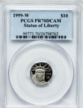 Modern Bullion Coins: , 1999-W P$10 Tenth-Ounce Platinum Eagle PR70 Deep Cameo PCGS. PCGSPopulation (167). NGC Census: (615). Mintage: 19,123. Num...