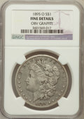 Morgan Dollars, 1895-O $1 -- Obv Graffiti -- NGC Details. Fine. NGC Census:(95/3789). PCGS Population (159/4267). Mintage: 450,000. Numism...